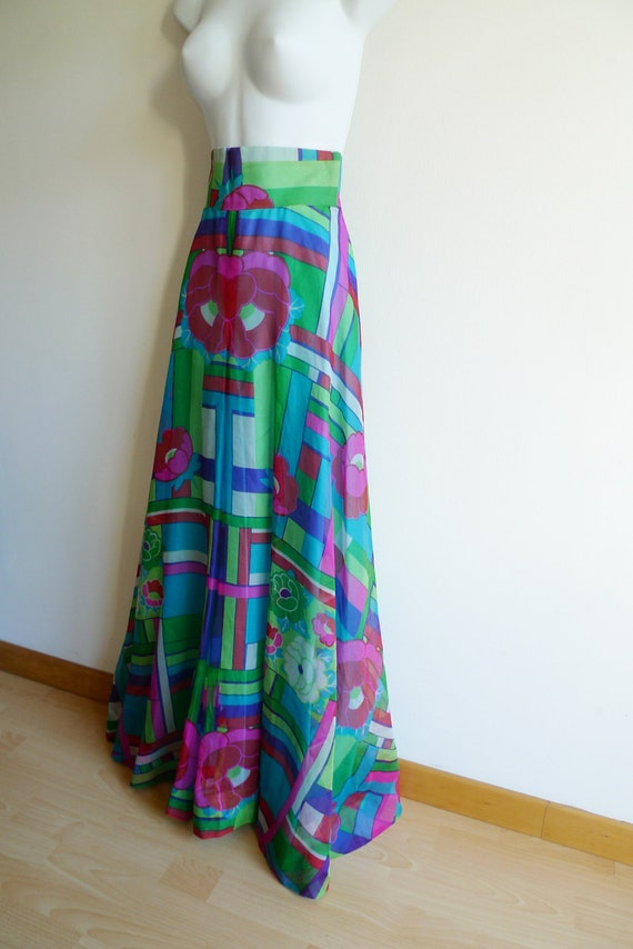70s high waisted and wide cut palazzo pants in co… - image 4
