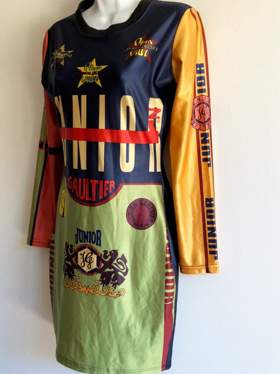 Junior Gaultier iconic vintage stretch dress from… - image 3