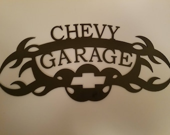 chevy garage sign