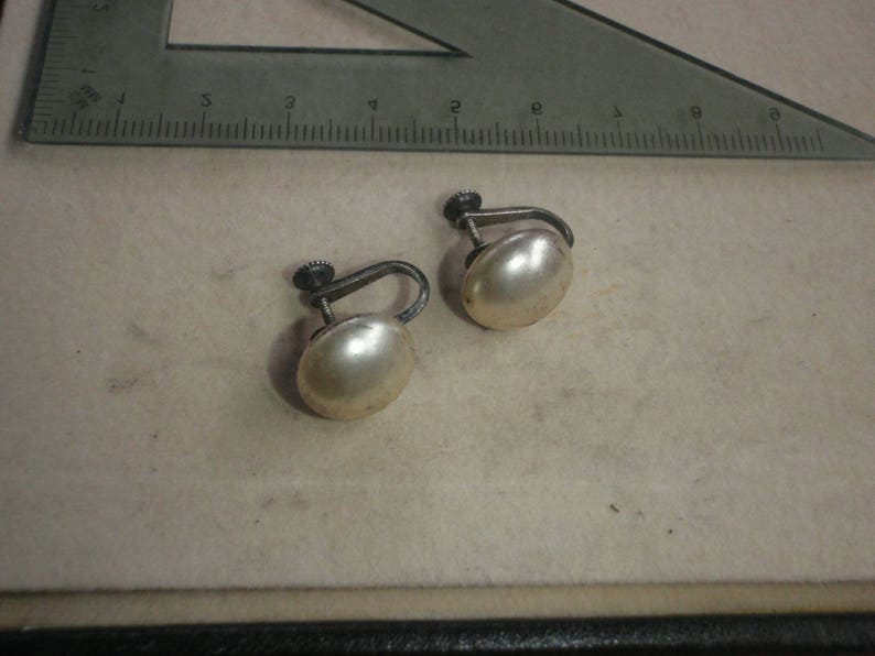 vintage clip on quality earrings 1950s