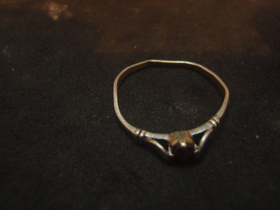 925 STERLING SILVER vintage  ring with ruby - image 3