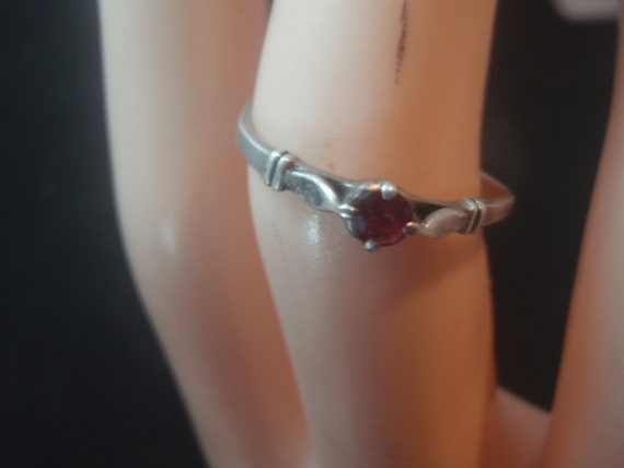 925 STERLING SILVER vintage  ring with ruby - image 5