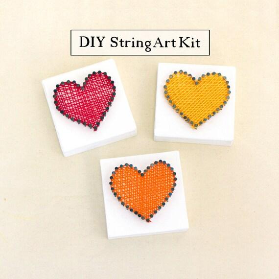 DIY Mini String Art Bastelset inklusive Vorlagen und   Etsy