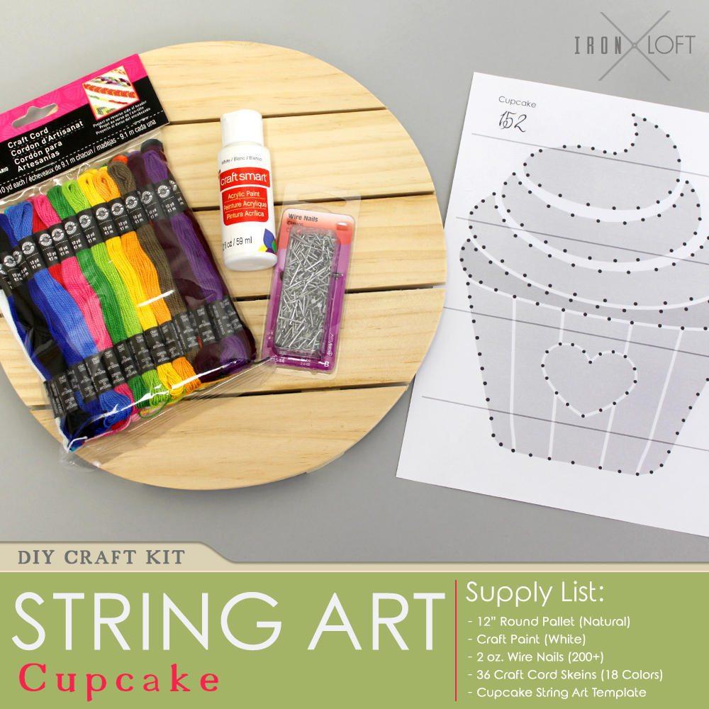 DIY Cupcake String Art Wood Pallet Sign Kit from IronLoftCo on Etsy ...