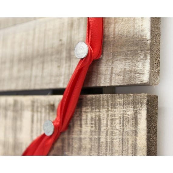 DIY Ribbon Heart String Art Photo Display Wood Pallet Kit