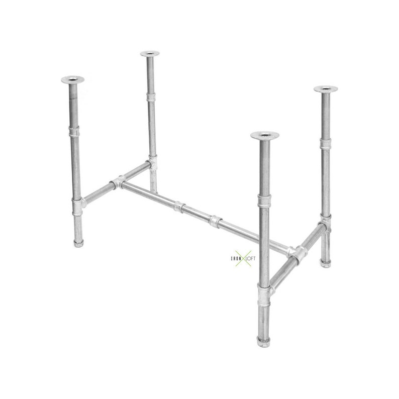 Dining Room or Kitchen Islands Industrial Pipe Table Base Kit for Kitchen