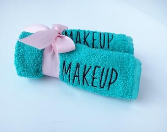 Makeup Wash Cloth, Embroidered Makeup Removal, Personalized Bathroom Decor, Guest Bath Makeup Eraser, Makeup Teen Gift, Face Towel, Facial