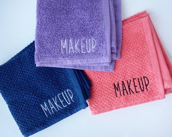 Makeup Wash Cloth   Makeup Towel   Monogrammed Wash Cloth   Monogrammed Hand Towel   Monogrammed Towel   Dorm Room Gift   Housewarming Gift