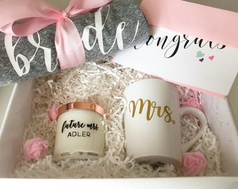 engagement gift basket engagement box bride to be gift