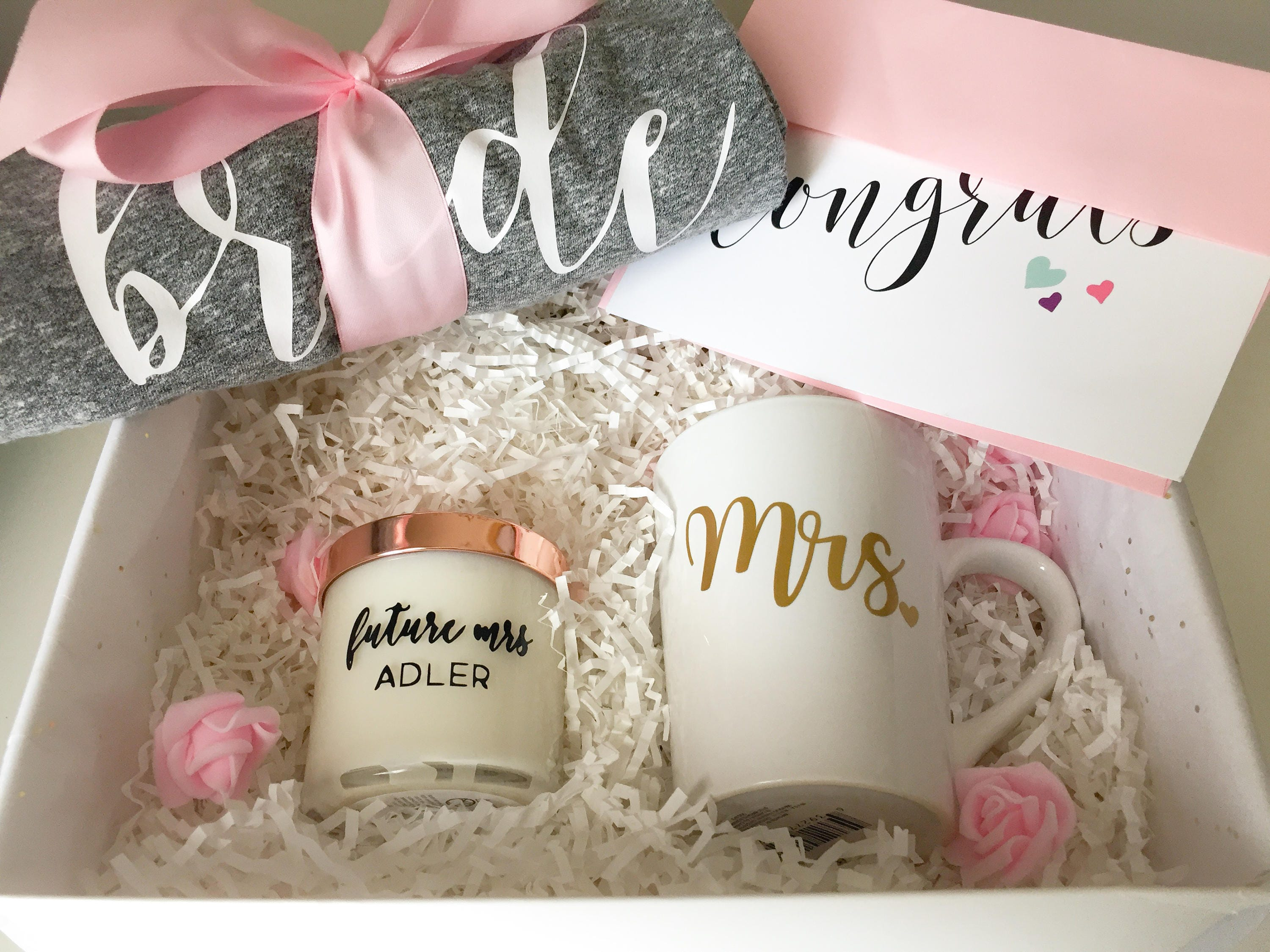 engagement gift basket Bride to Be Gift Engagement Gift