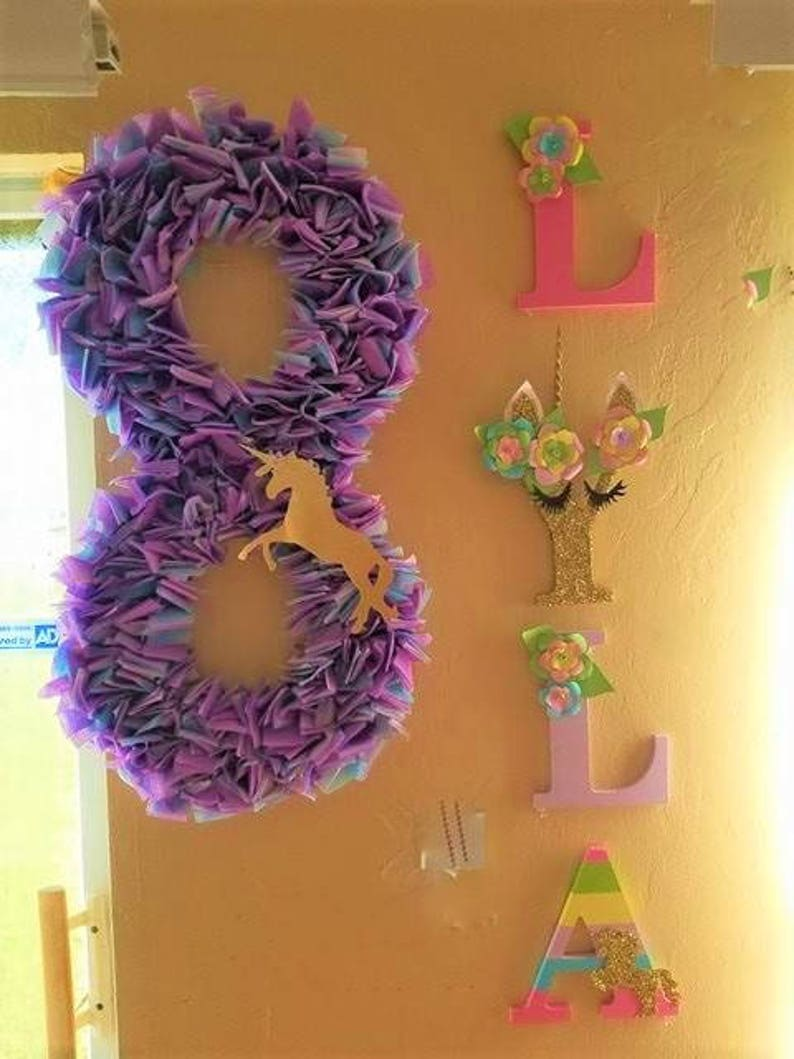 Photo Booth 36 Number or Letter Prop Birthday Party Prop Custom Wall Number or Letter Wall Decor Photo Shoot Prop Initials Monogram