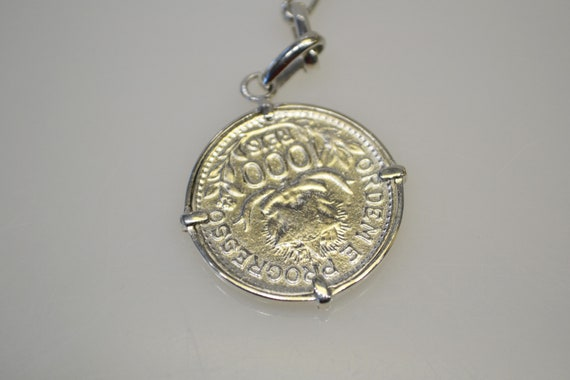 925 Sterling Silver 1913 Coin Key Chain Key Ring - image 4