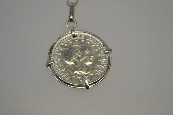 925 Sterling Silver 1913 Coin Key Chain Key Ring - image 2