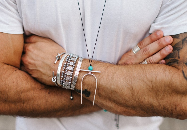 Silver Cuffs-Beaded Bracelets /& Necklace