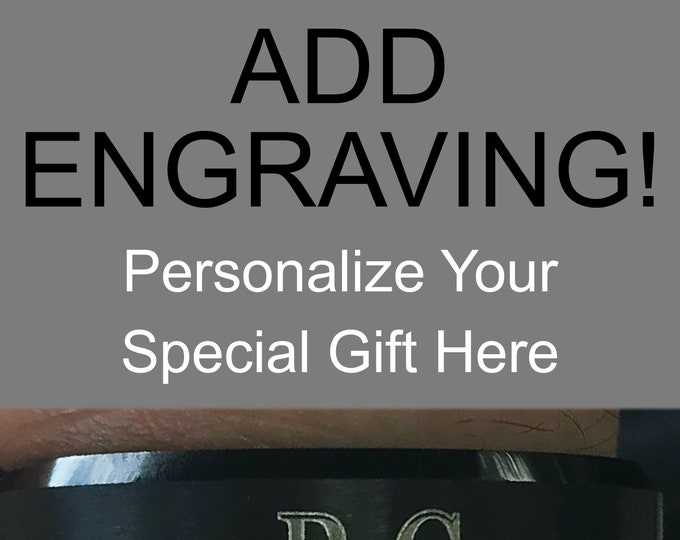 Add Personal Engraving To Your RCornejo Tungsten Ring Wedding Band (Will Not Be Shipped Until Nov. 20th)