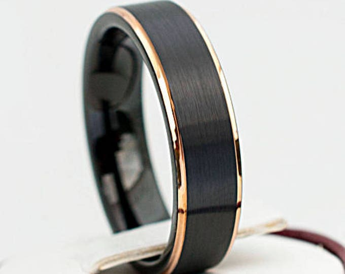 Friends of Irony Tungsten Carbide Origami Ring Wedding Band Anniversary Ring for Men and Women 8mm
