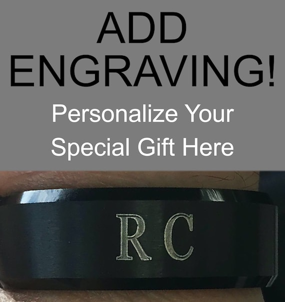 Add Personal Engraving To Your RCornejo Tungsten Ring Wedding Band