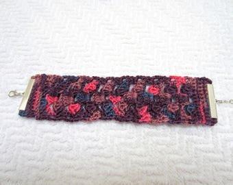Lace crochet Cuff Bracelet