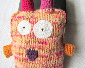 Nice fluffy monster to knitting and crochet