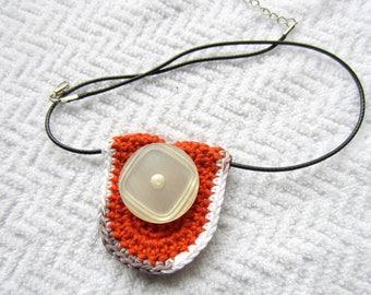 Original crochet pendant