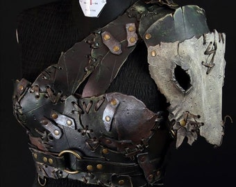 Barbarian female leather armor