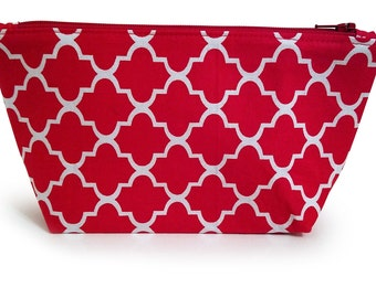 Flat Bottom Zipper Pouch