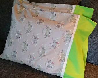 Bicycle Pillow Cover, Bicycle Pillow Case, Sports Pillowcases, Summer Pillowcases, Cycle Pillowcases, Summer Pillow Cover, Summer Pillow