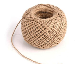 1 x reel 30 m natural jute Twine - 2 mm - natural Twine for decoration wedding, crafts, scrapbooking...