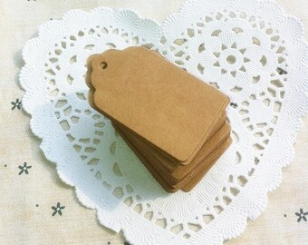 Kraft gift tags - Kraft blank tags - Wedding tags - Gift favor tags - Scrapbooking tags - Set of 10, 25 or 100 tags