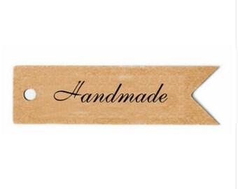 Handmade Kraft Gift Tags - 7 x 2 cm - Hang Tags - Mini Kraft tag - Kraft Favor tag - Wedding Favor Tag - Vintage Inspired Tag
