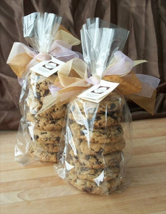 100 Clear Cookie Bags Cellophane Bags Christmas Gift Bags Wedding Favors Large Size 9 X 5 5 Inch