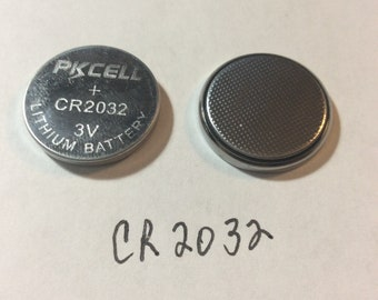 2 Batteries Replacement 3V Lithium Battery, Coin Button Cell: CR2032 LR41 LR44 , LED String Lights, Cork Lights 2 Batteries For 1.00!