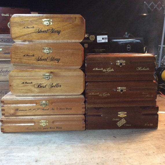 A Fuente Don Carlos Double Robusto Wood Wooden Cigar Box