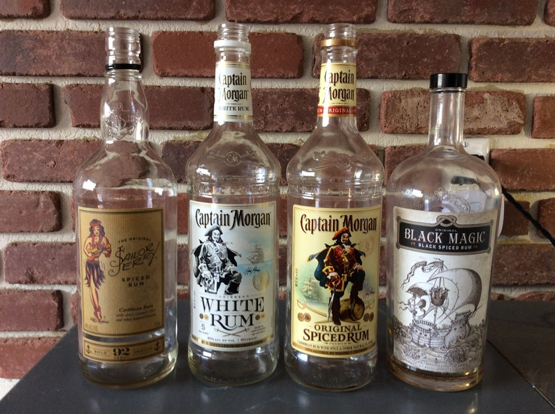 Updated Empty Tequila Whiskey Liquor Bottles Diy Project Etsy