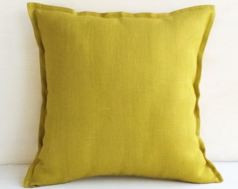 Chartreuse pillow cover Lime green