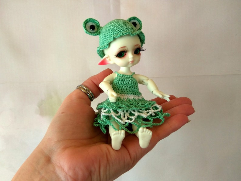 BJD Mini Doll Little 1//8 PP Unpainted Bare Doll without Any Make Up