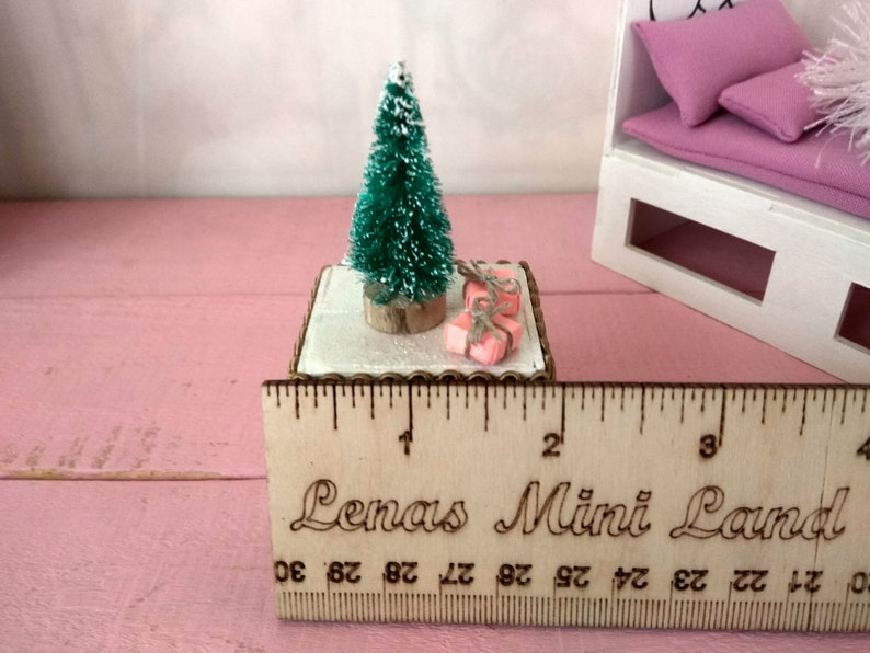 Miniature Christmas tree stand dollhouse 1:12 scale   Etsy
