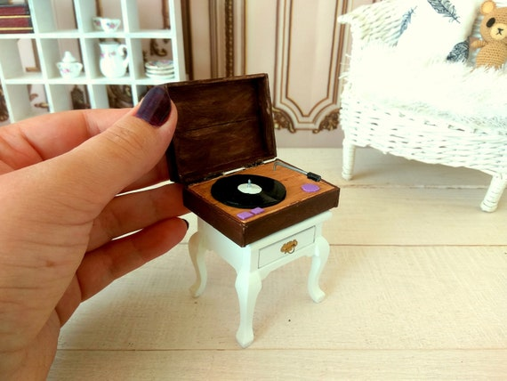 1//6 Dollhouse Miniature Bedroom Furniture Wooden Jewelry Box Model Accessory