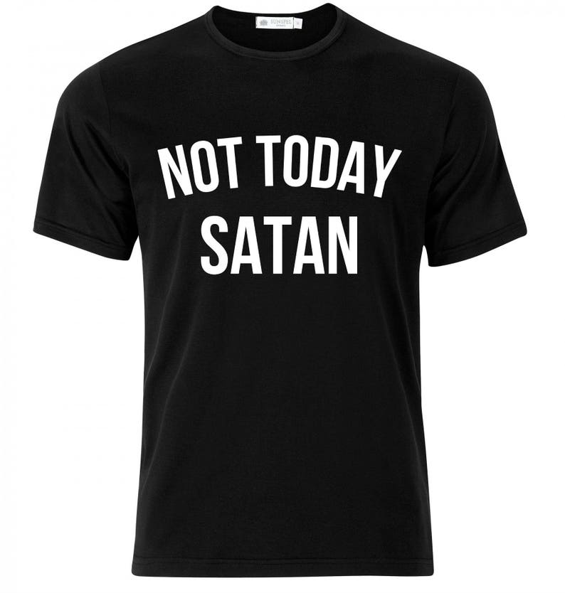e3d7e87bc NOT TODAY SATAN // Womens Flowy Off Shoulder T-Shirt // Not | Etsy