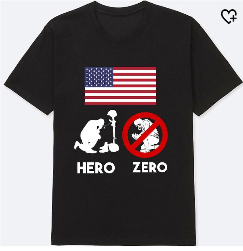c74206437 ANTI NFL Shirt Colin Kaepernick Tshirt Hero Zero Shirt boycott