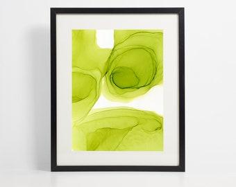 Lime Green Print
