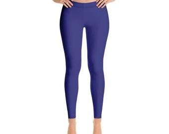 a83ae62f03ee1 Navy Blue Leggings, Tights, Yoga Pants, Yoga Leggings, Printed Leggings,  Leggings, Workout Leggings, Leggings for Women