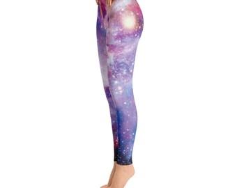 Galaxy Leggings Yoga Leggings Workout Leggings Yoga Pants colorful Leggings Printed Leggings Space Leggings Unique leggings Womens Leggings