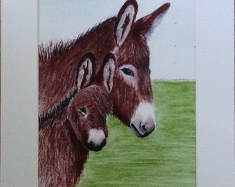 Motherly Love. Donkey print