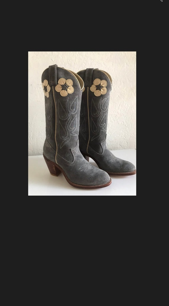 Acme BLUE GREY womens Cowgirl boots