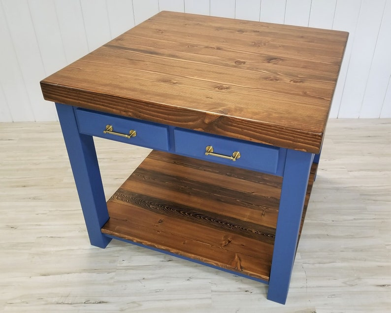 Square Kitchen Island, Solid Wood, CUSTOMIZE, FREE SHIP!