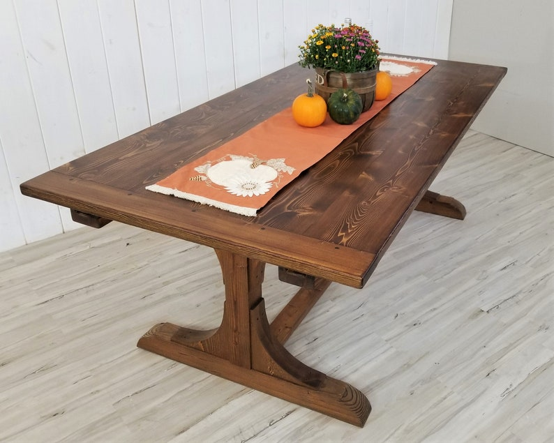 Miraculous English Tavern Dining Table Optional Extensions Trestle Base Free Ship Download Free Architecture Designs Scobabritishbridgeorg