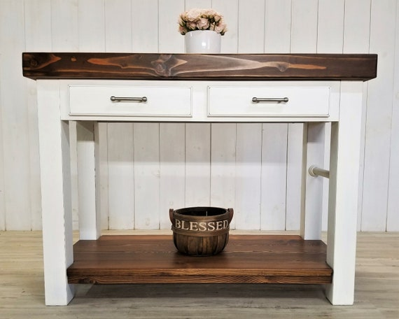 Customize this Kitchen Island, Counter Height Table with Storage