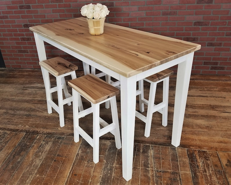 Terrific Free Ship Hickory Counter Dining Set Table Kitchen Island With Stools Download Free Architecture Designs Scobabritishbridgeorg