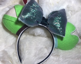 """Peter Pan and Tinker Bell """"Off to Neverland"""" Inspired Mickey Ears Mouse Ears Tink Pixie Dust Disney"""